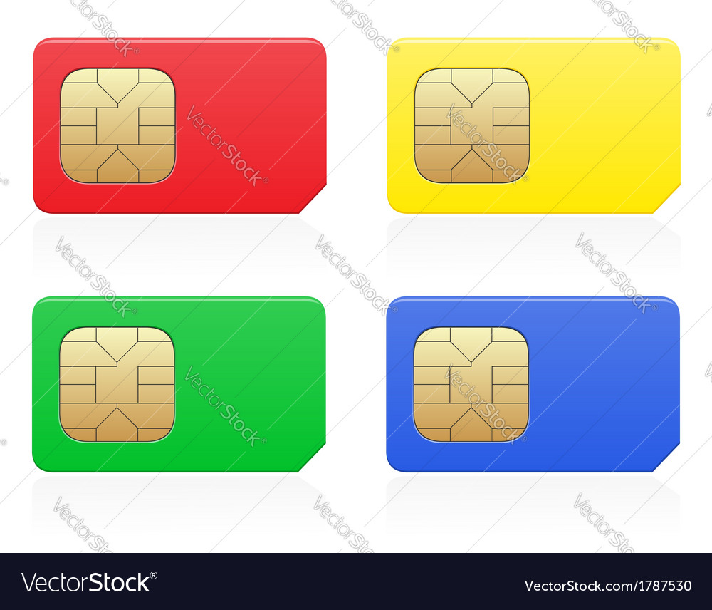Sim card 02 vector | Price: 1 Credit (USD $1)