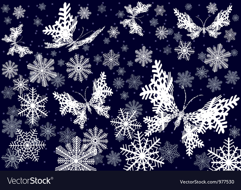 Snow butterfly  seamless vector | Price: 1 Credit (USD $1)