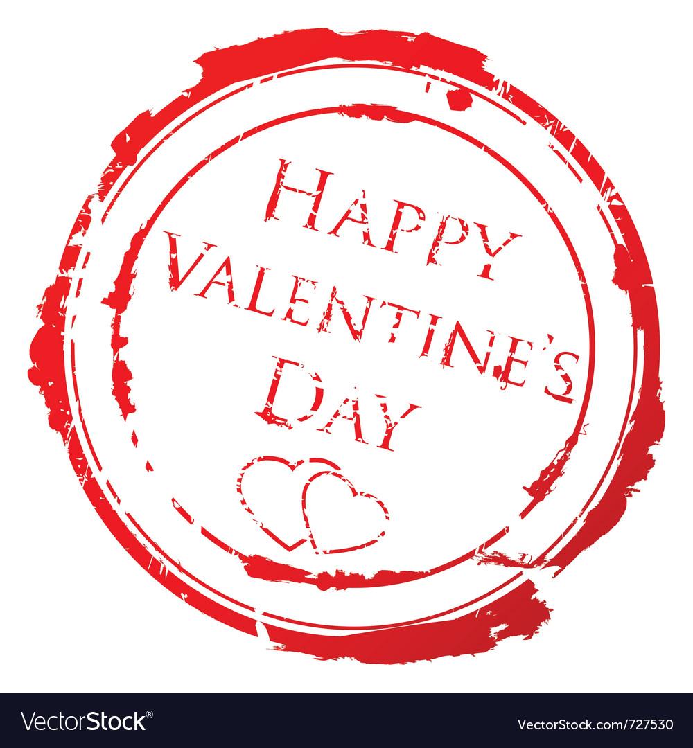 Valentines day stamp vector | Price: 1 Credit (USD $1)