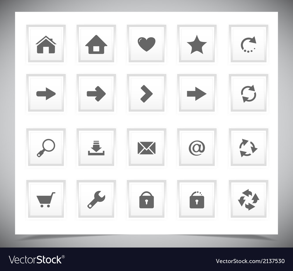 White buttons for web vector | Price: 1 Credit (USD $1)