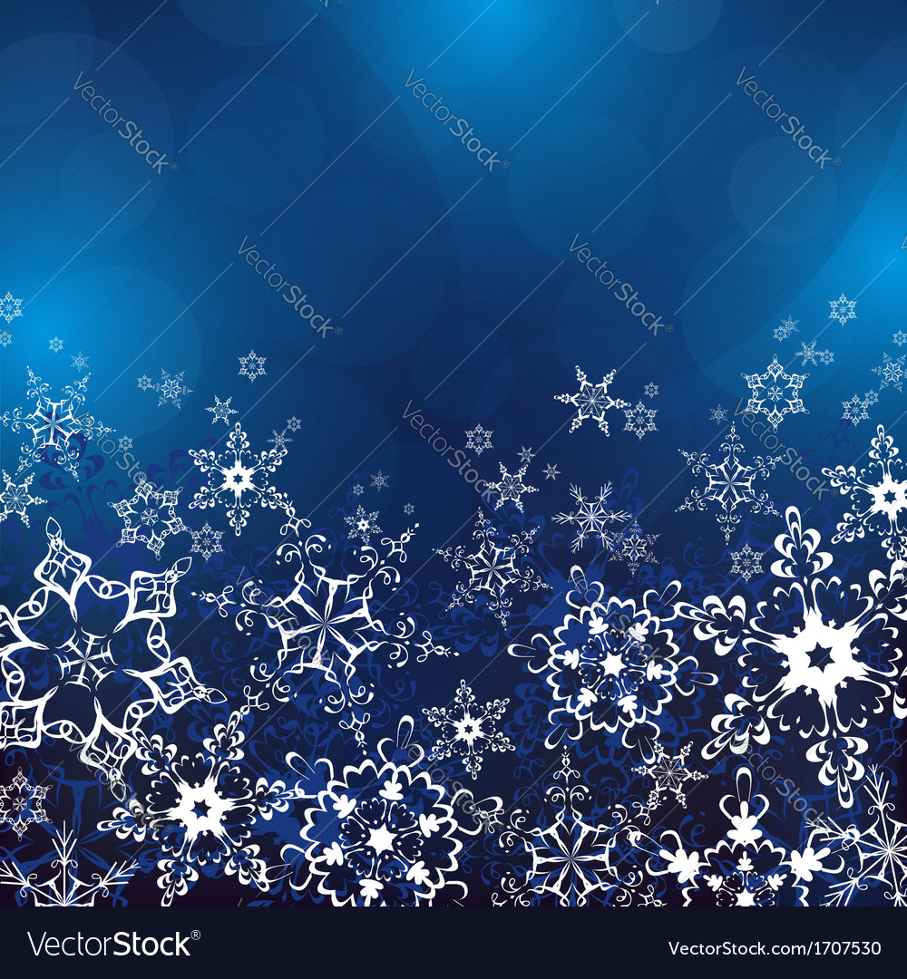 Winter background with ornate snowflakes vector | Price: 1 Credit (USD $1)
