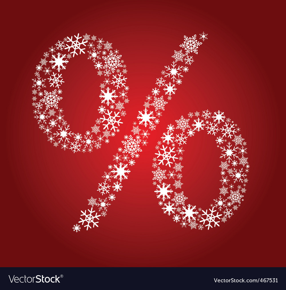 Christmas percentage vector | Price: 1 Credit (USD $1)
