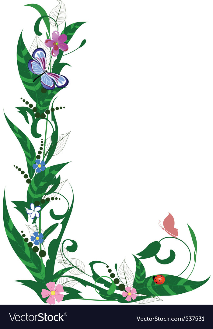 Cover letter flower vector | Price: 1 Credit (USD $1)