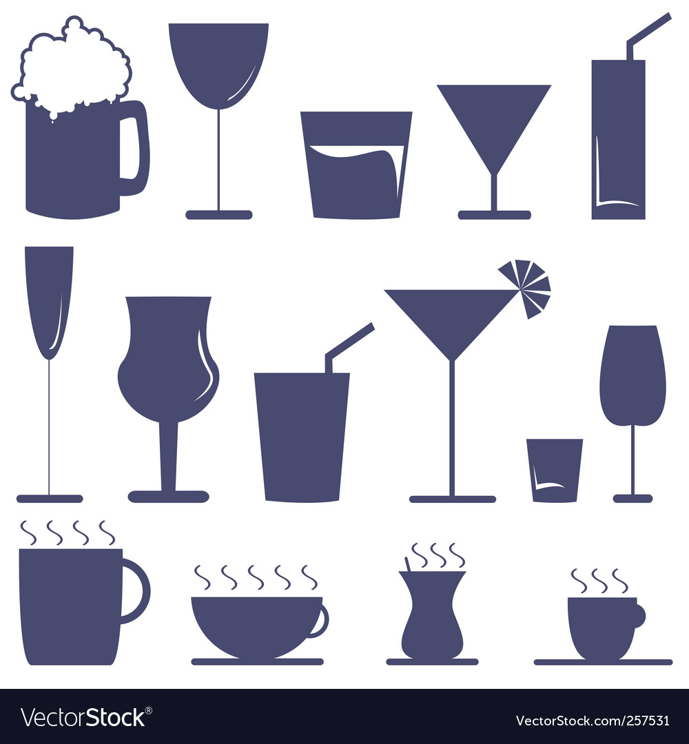 Drinks vector | Price: 1 Credit (USD $1)