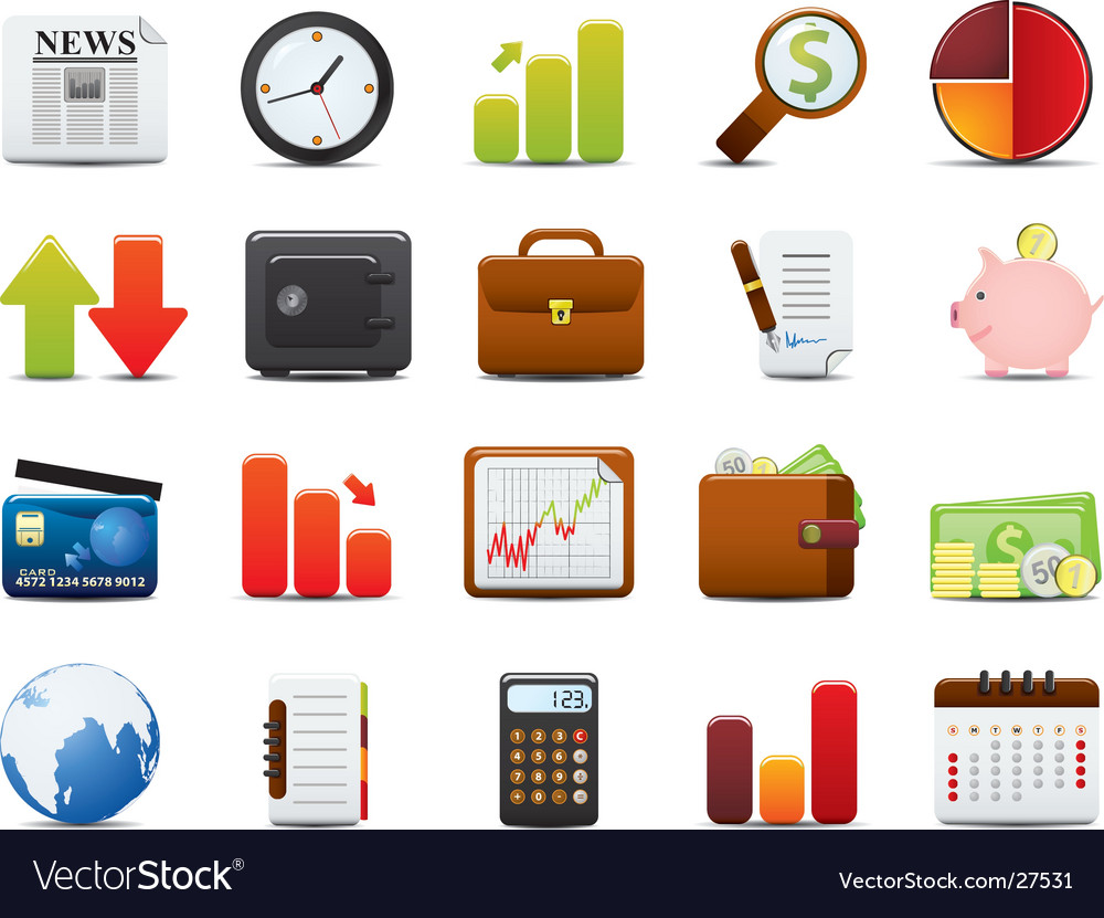 Finance icon set vector | Price: 3 Credit (USD $3)