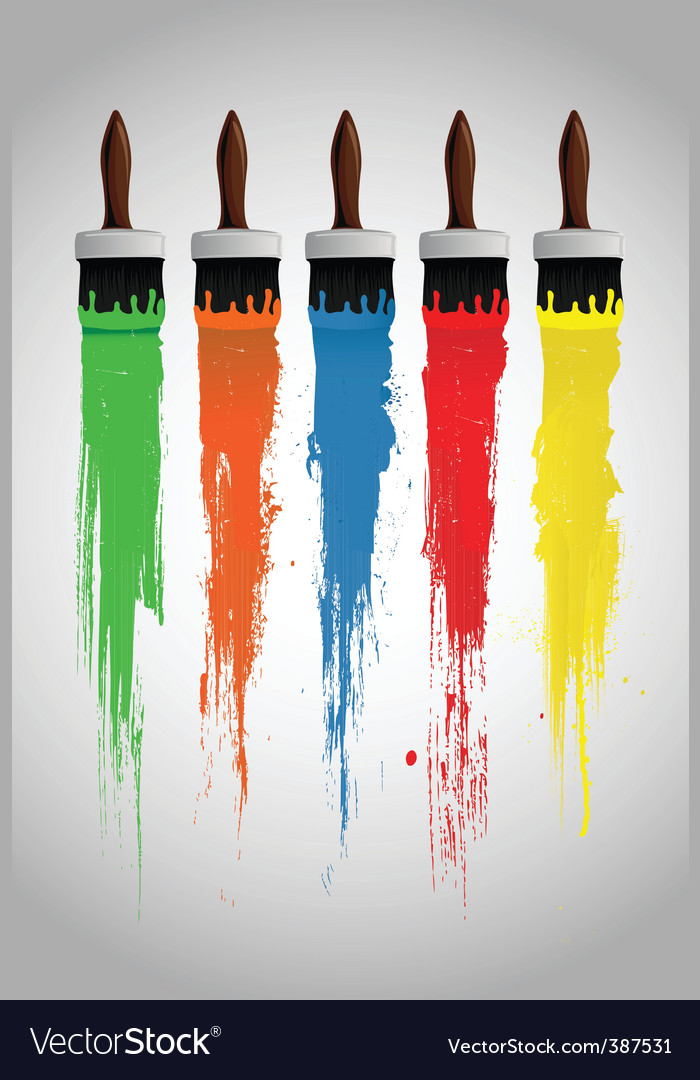 Paint brushes vector | Price: 1 Credit (USD $1)