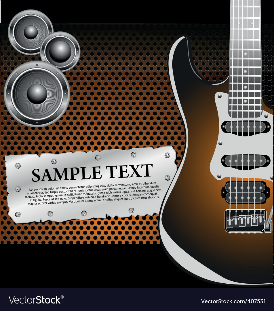 Rock music background vector | Price: 1 Credit (USD $1)