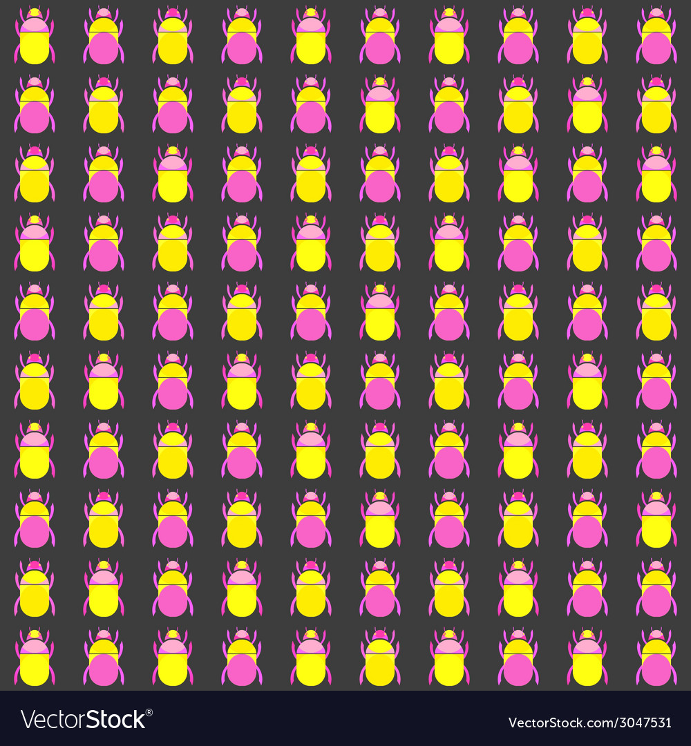 Seamless pattern with bugs vector | Price: 1 Credit (USD $1)
