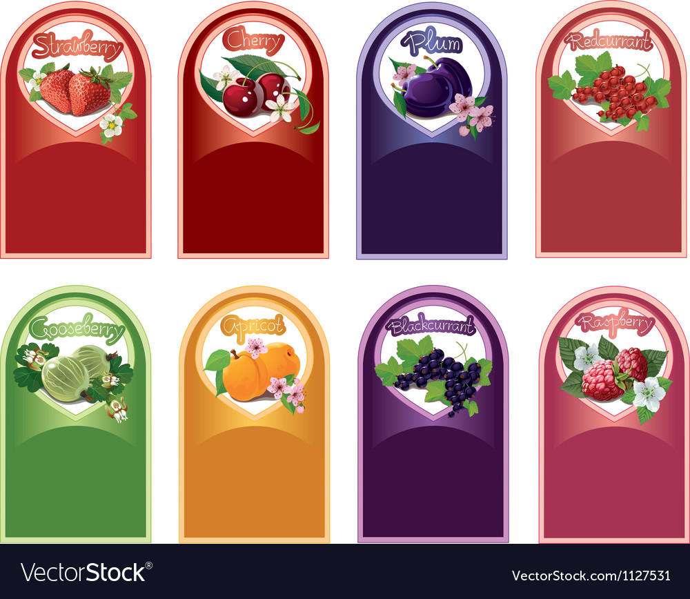 Set of labels for jam vector | Price: 1 Credit (USD $1)