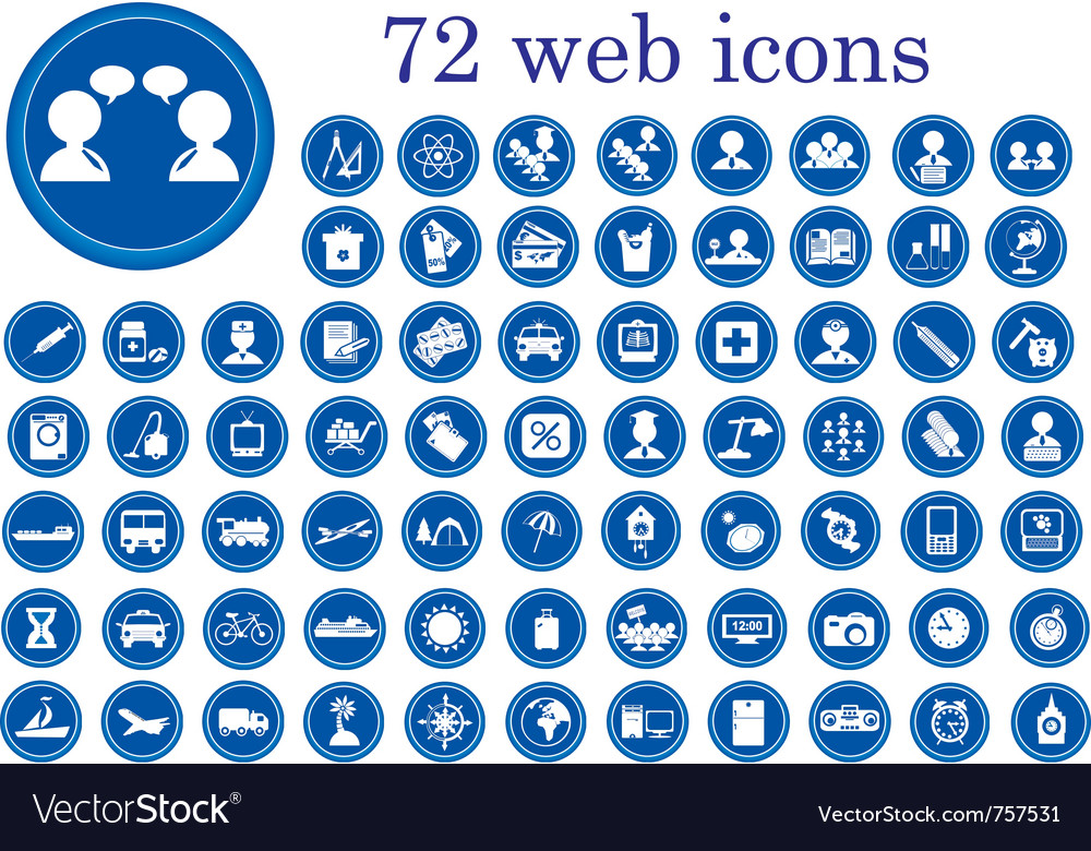 Stylized web icons vector | Price: 1 Credit (USD $1)