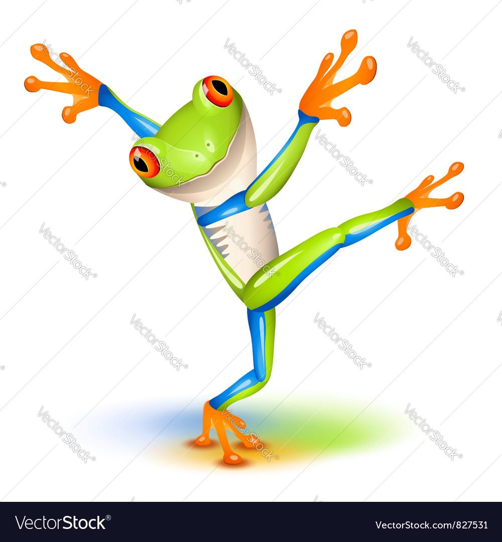 Tree frog dance vector | Price: 3 Credit (USD $3)