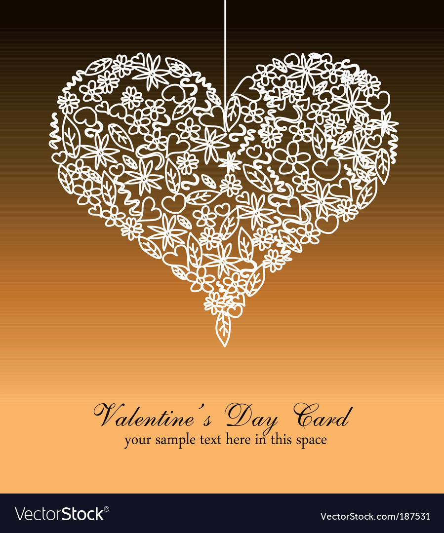 Valentines day card background vector | Price: 3 Credit (USD $3)