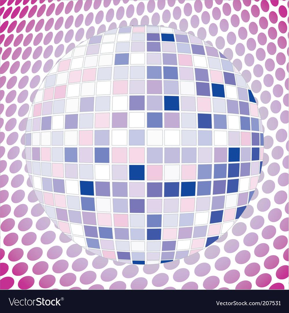 Velvet disco ball vector | Price: 1 Credit (USD $1)