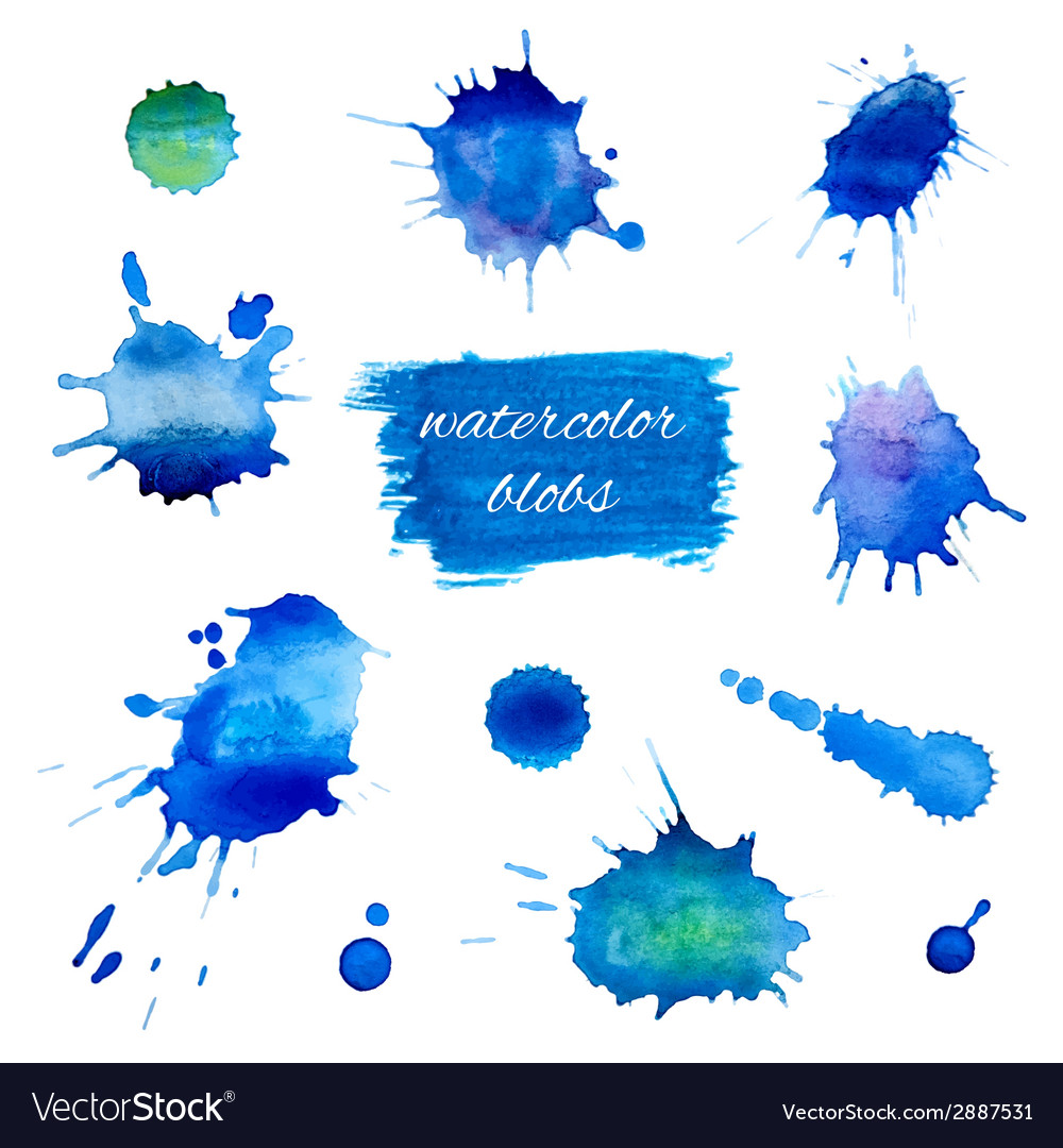 Watercolor blobs set vector | Price: 1 Credit (USD $1)