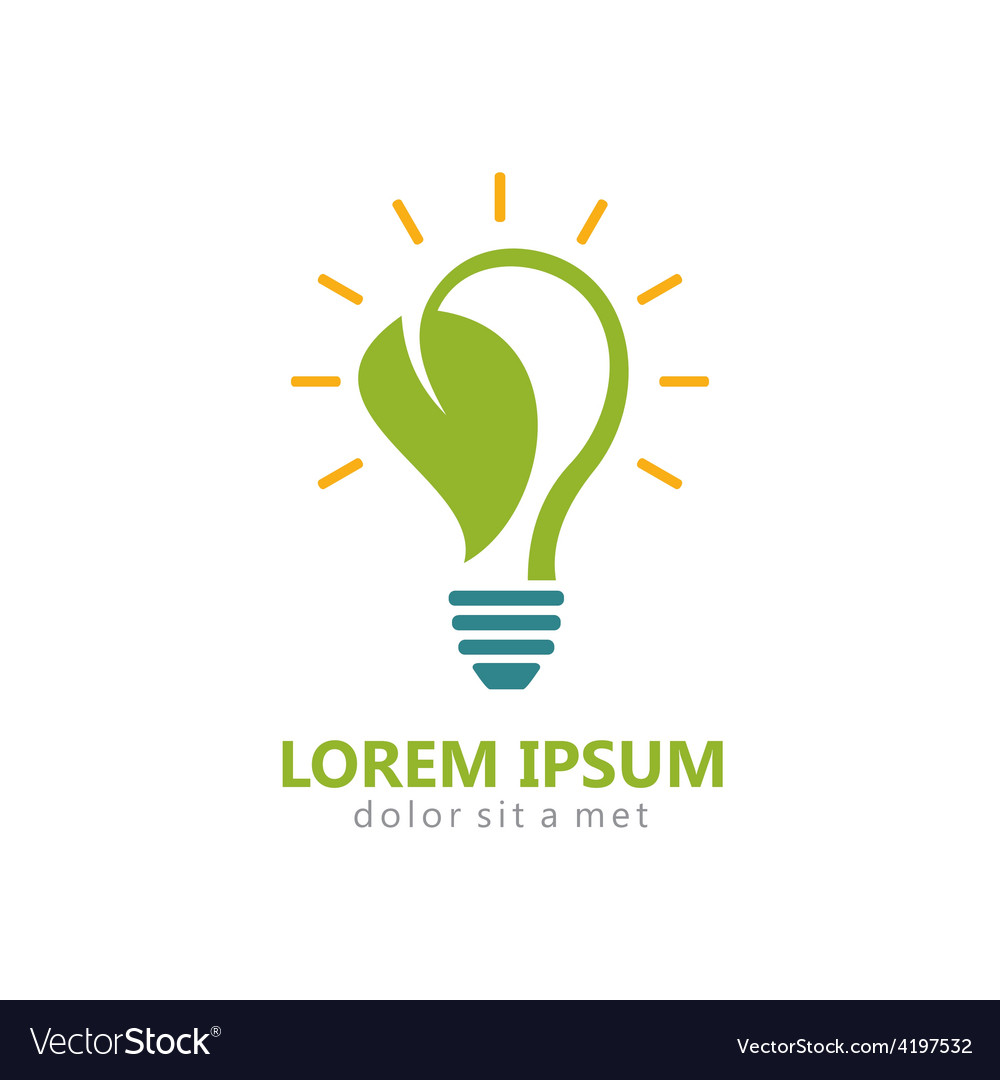 Bio energy leaf light bulb logo vector | Price: 1 Credit (USD $1)