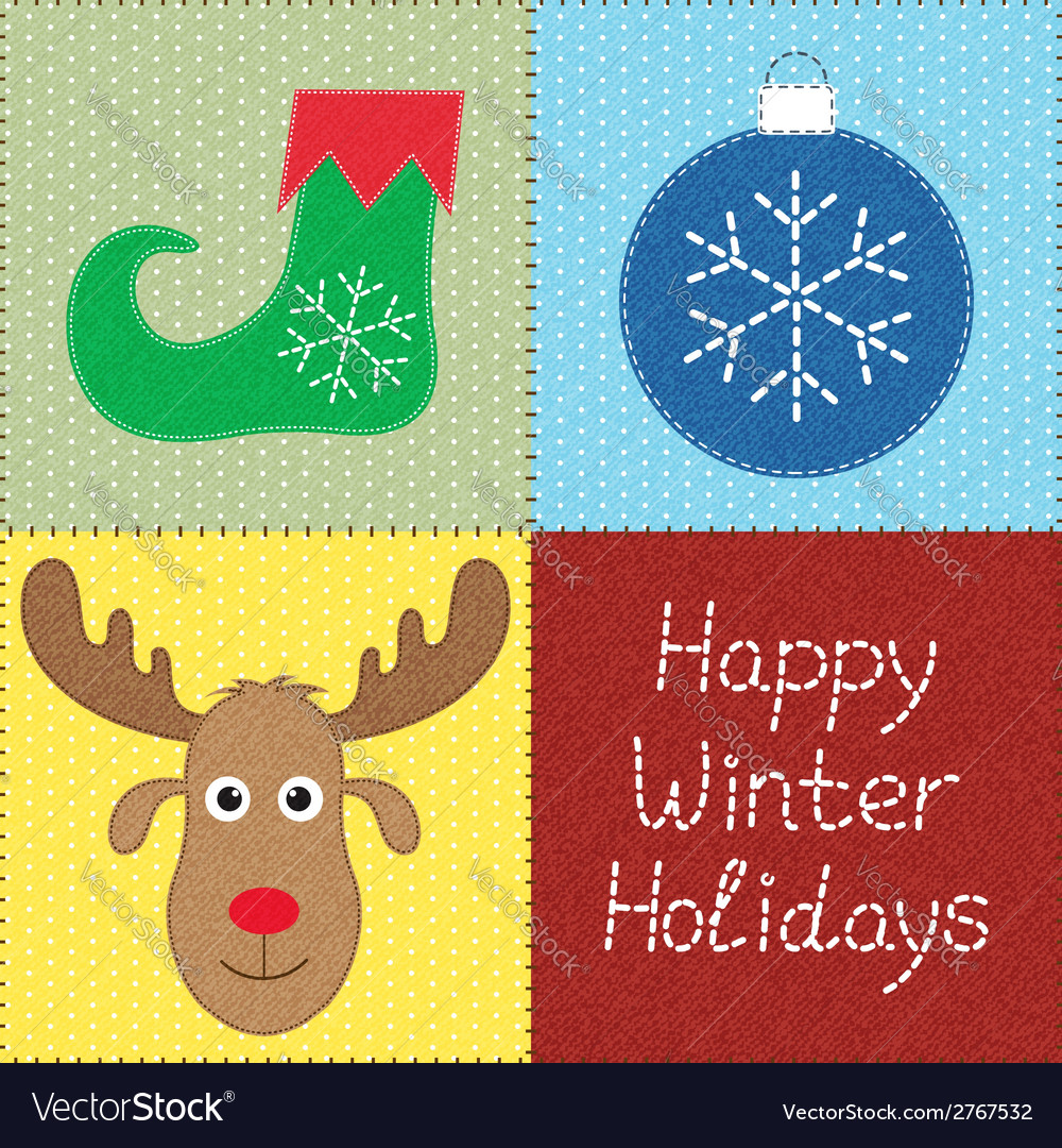 Christmas patchwork vector | Price: 1 Credit (USD $1)