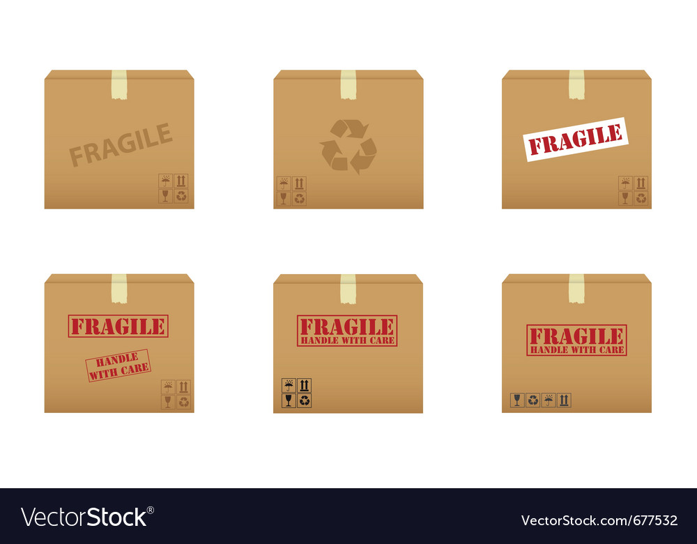 Collection of cardboard boxes vector | Price: 1 Credit (USD $1)