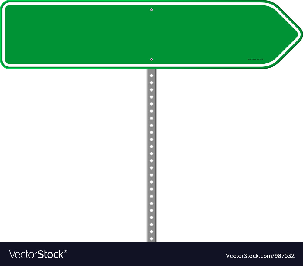 Empty green direction sign vector | Price: 1 Credit (USD $1)