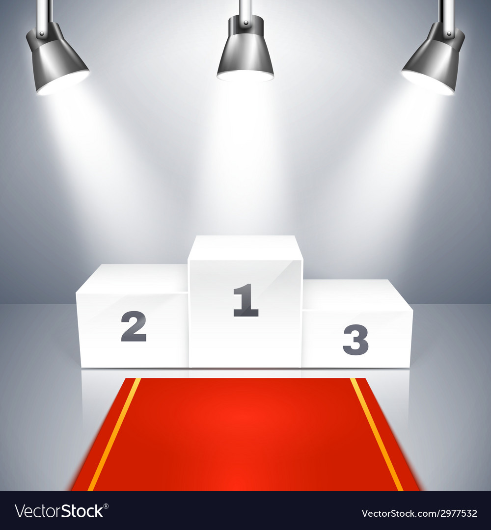 Empty winners podium with spotlights vector | Price: 1 Credit (USD $1)