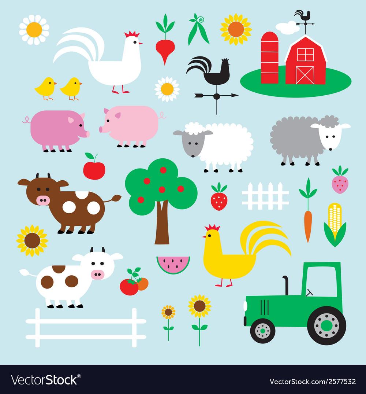 Farm clipart vector | Price: 1 Credit (USD $1)