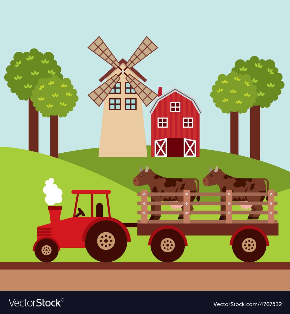 Farm concept vector | Price: 1 Credit (USD $1)
