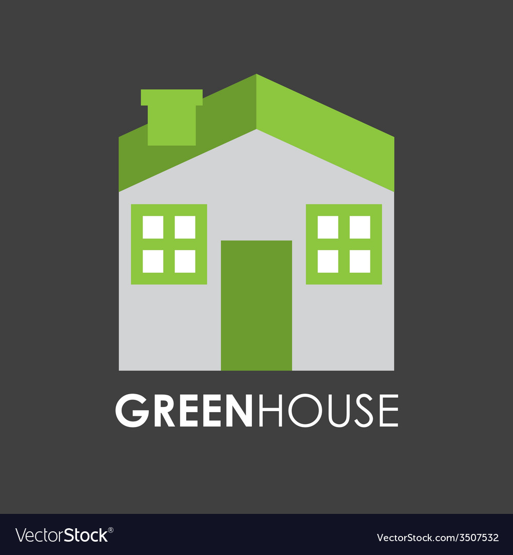 Green house design vector | Price: 1 Credit (USD $1)