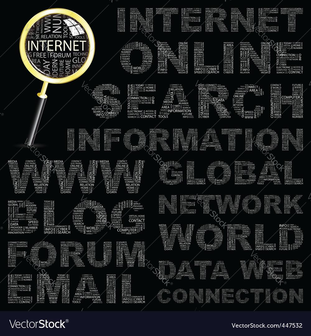Internet vector | Price: 1 Credit (USD $1)