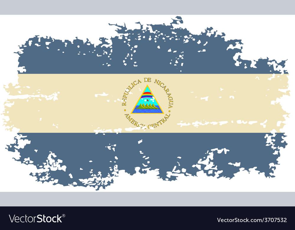 Nicaragua grunge flag vector | Price: 1 Credit (USD $1)