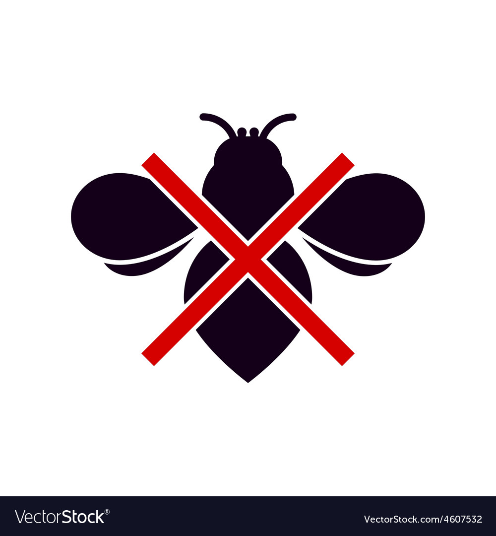 No insects symbol vector | Price: 1 Credit (USD $1)