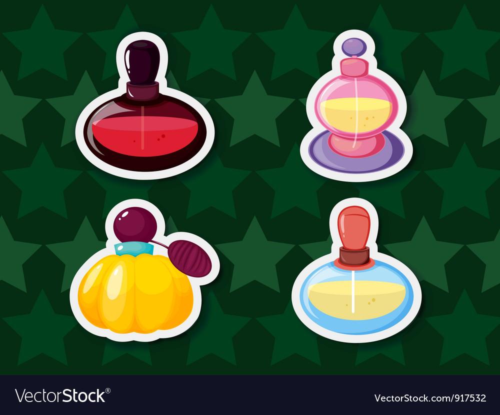 Perfume bottles vector | Price: 1 Credit (USD $1)