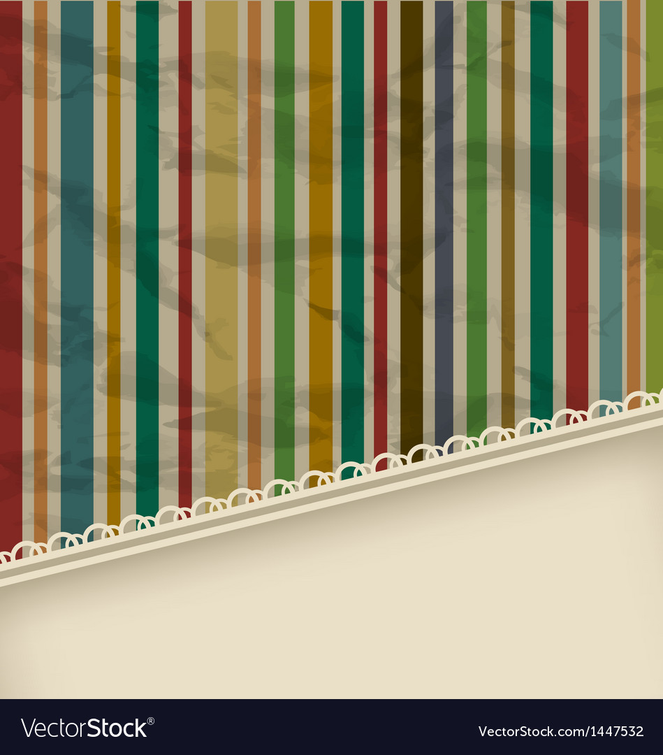 Retro stripe vintage with copyspace for text vector | Price: 1 Credit (USD $1)