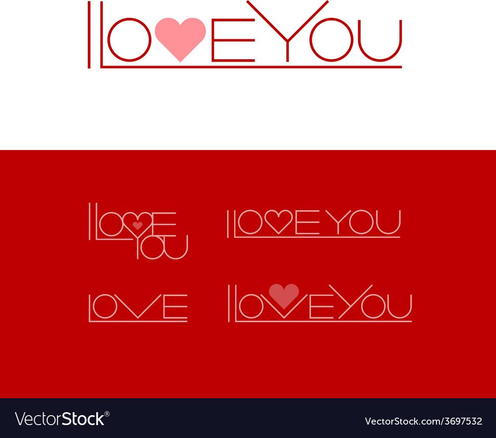 Short phrase i love you vector | Price: 1 Credit (USD $1)