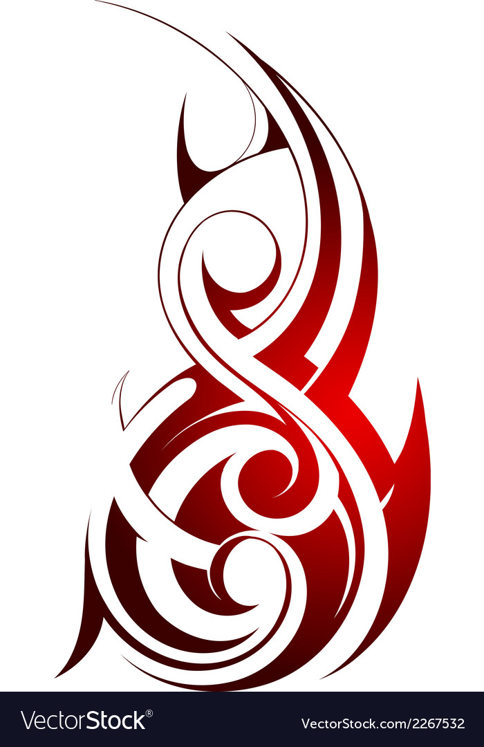 Tribal fire tattoo vector | Price: 1 Credit (USD $1)