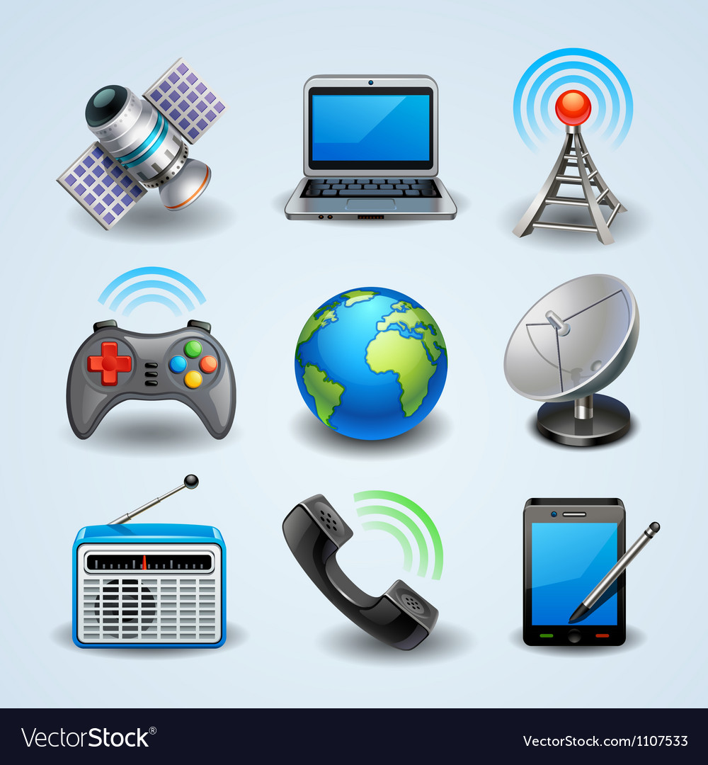 Communication icons vector | Price: 3 Credit (USD $3)