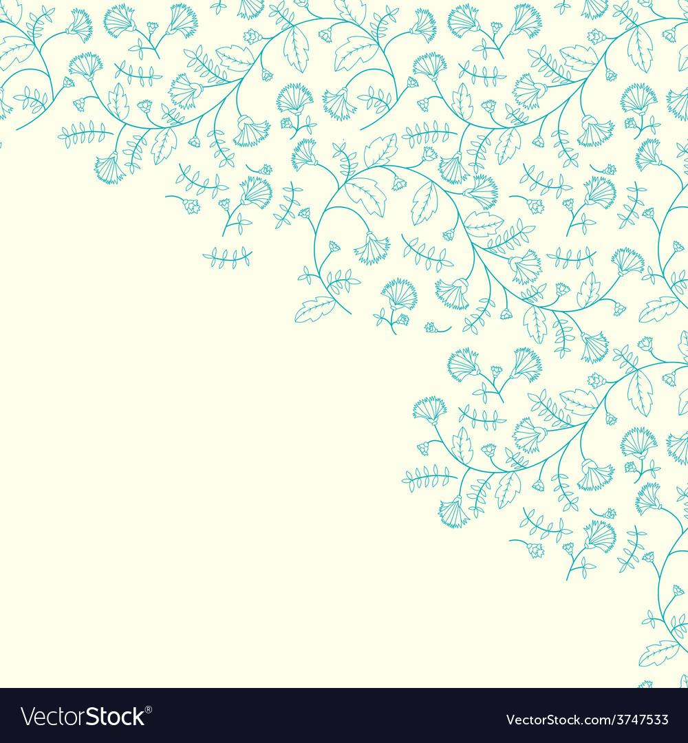 Cornflower flower contour background vector | Price: 1 Credit (USD $1)