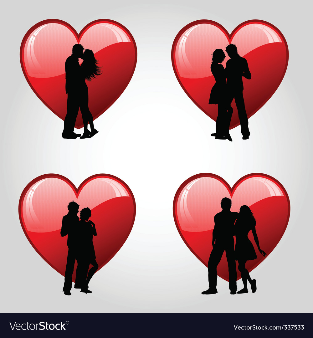 Couples and hearts vector | Price: 1 Credit (USD $1)