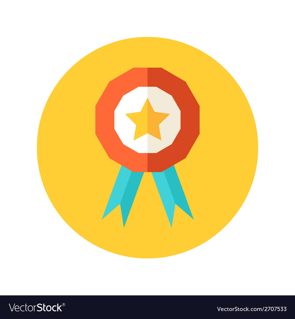 Flat award icon vector | Price: 1 Credit (USD $1)