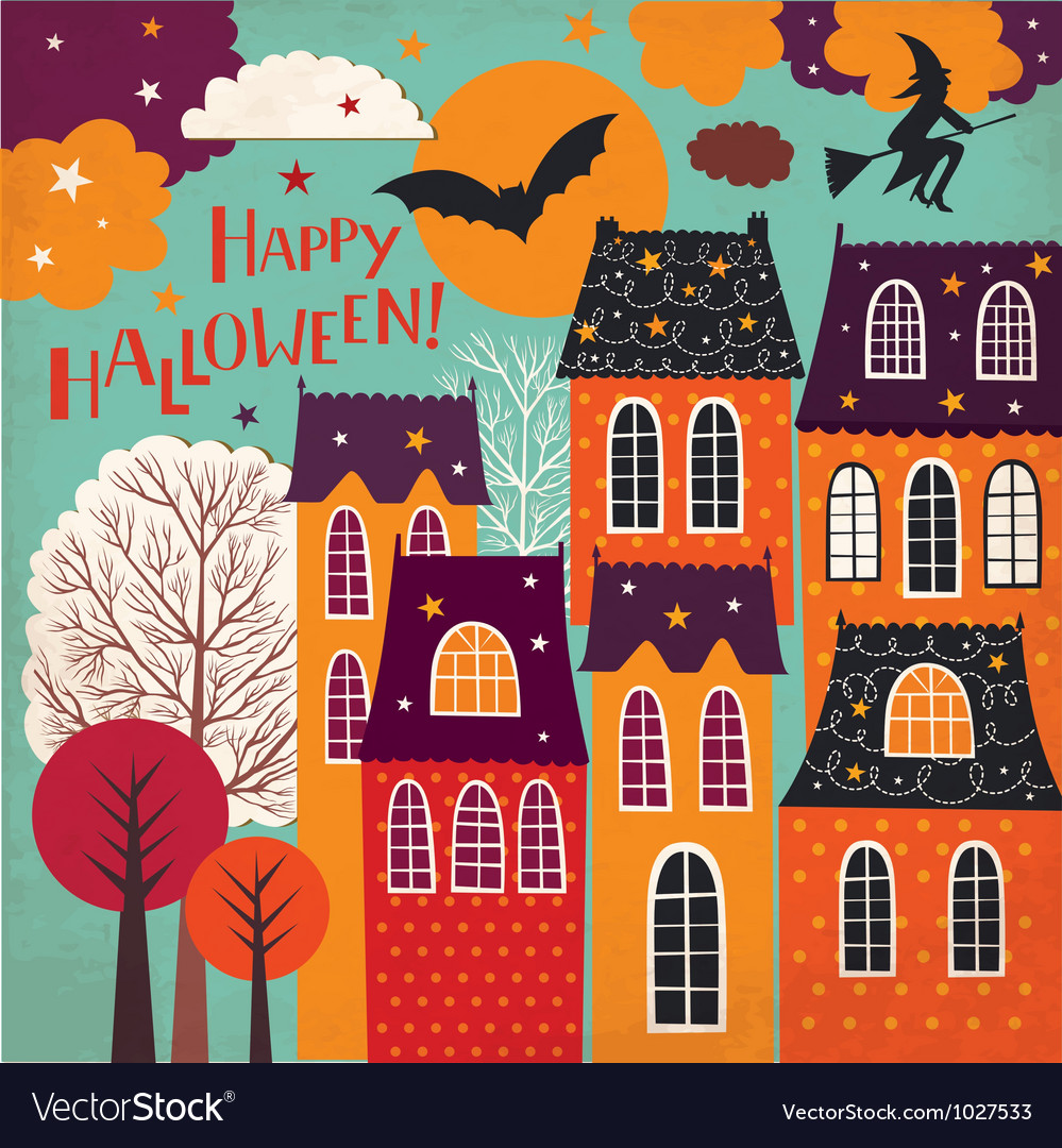 Halloween holiday card vector | Price: 1 Credit (USD $1)