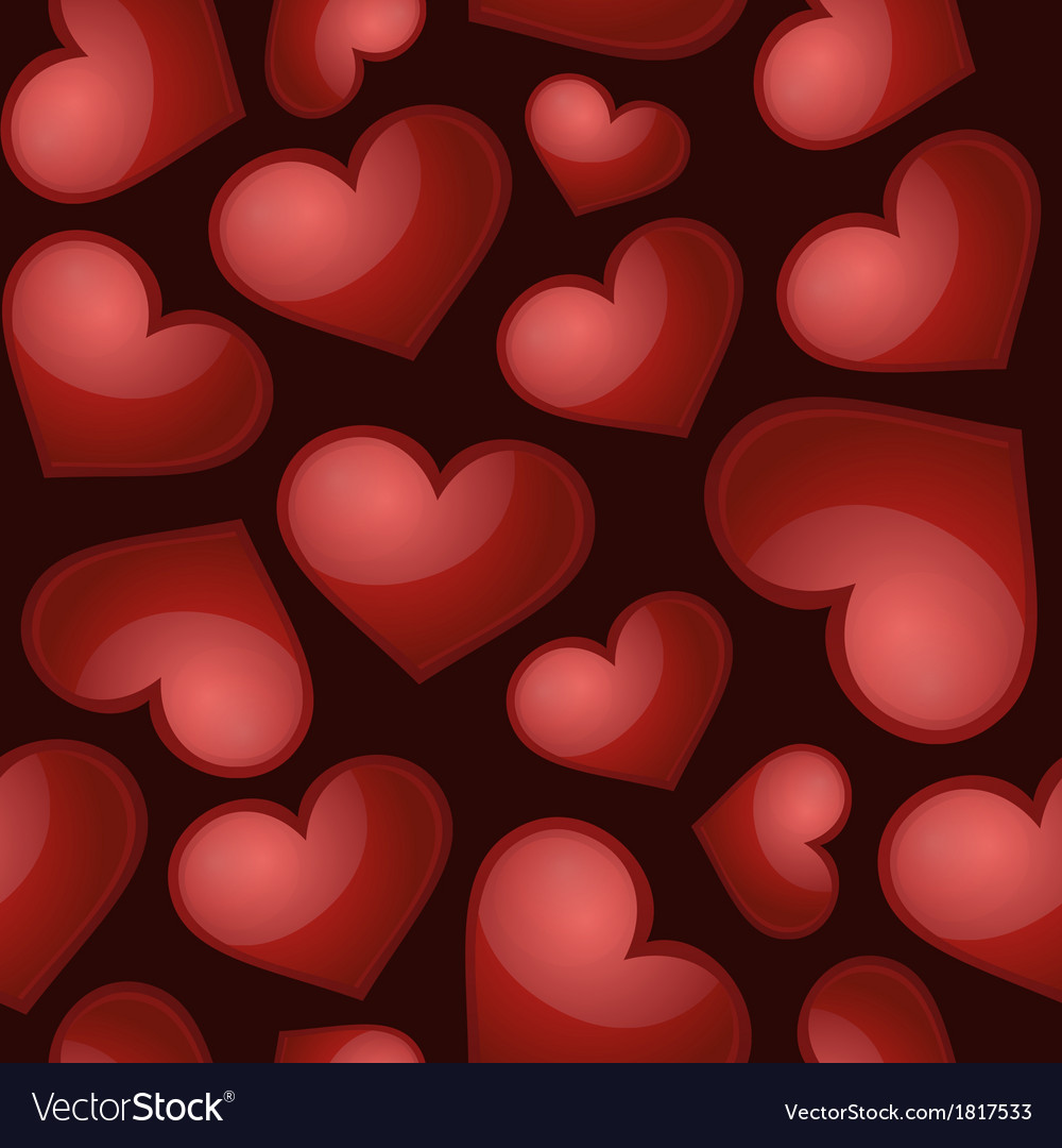 Heart pattern seamless background vector | Price: 1 Credit (USD $1)