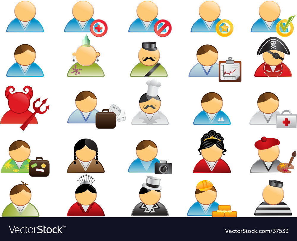Human icons vector | Price: 3 Credit (USD $3)