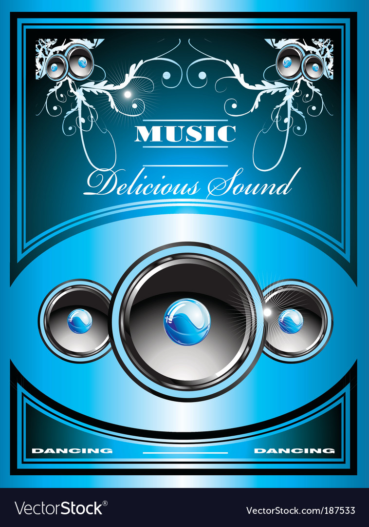 Music flyer background vector | Price: 3 Credit (USD $3)