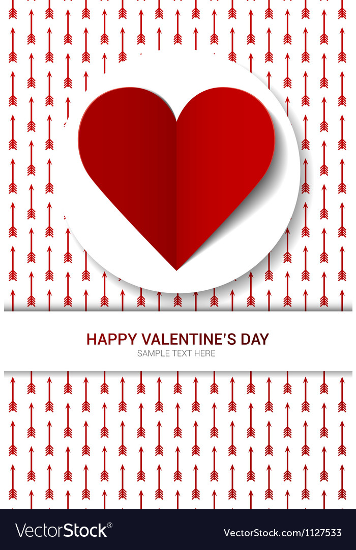 Valentines day postcard vector   Price: 1 Credit (USD $1)