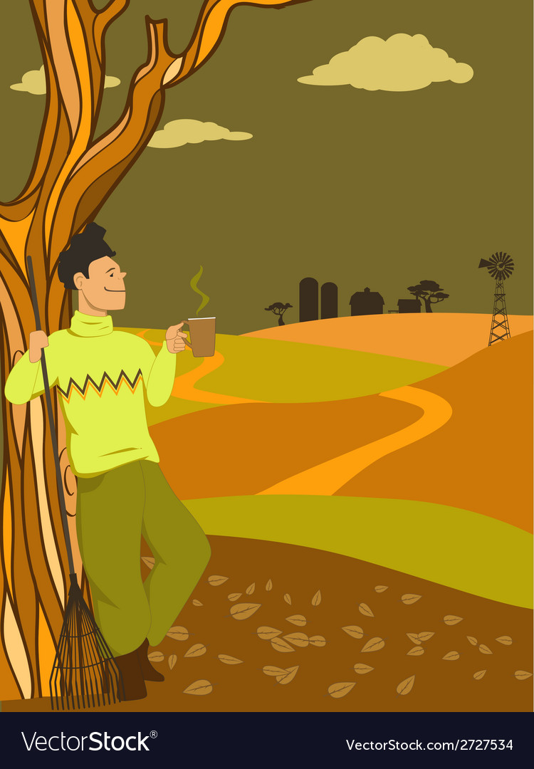 Autumn in the country vector | Price: 1 Credit (USD $1)