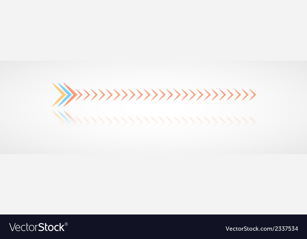 Color arrows with reflection vector | Price: 1 Credit (USD $1)