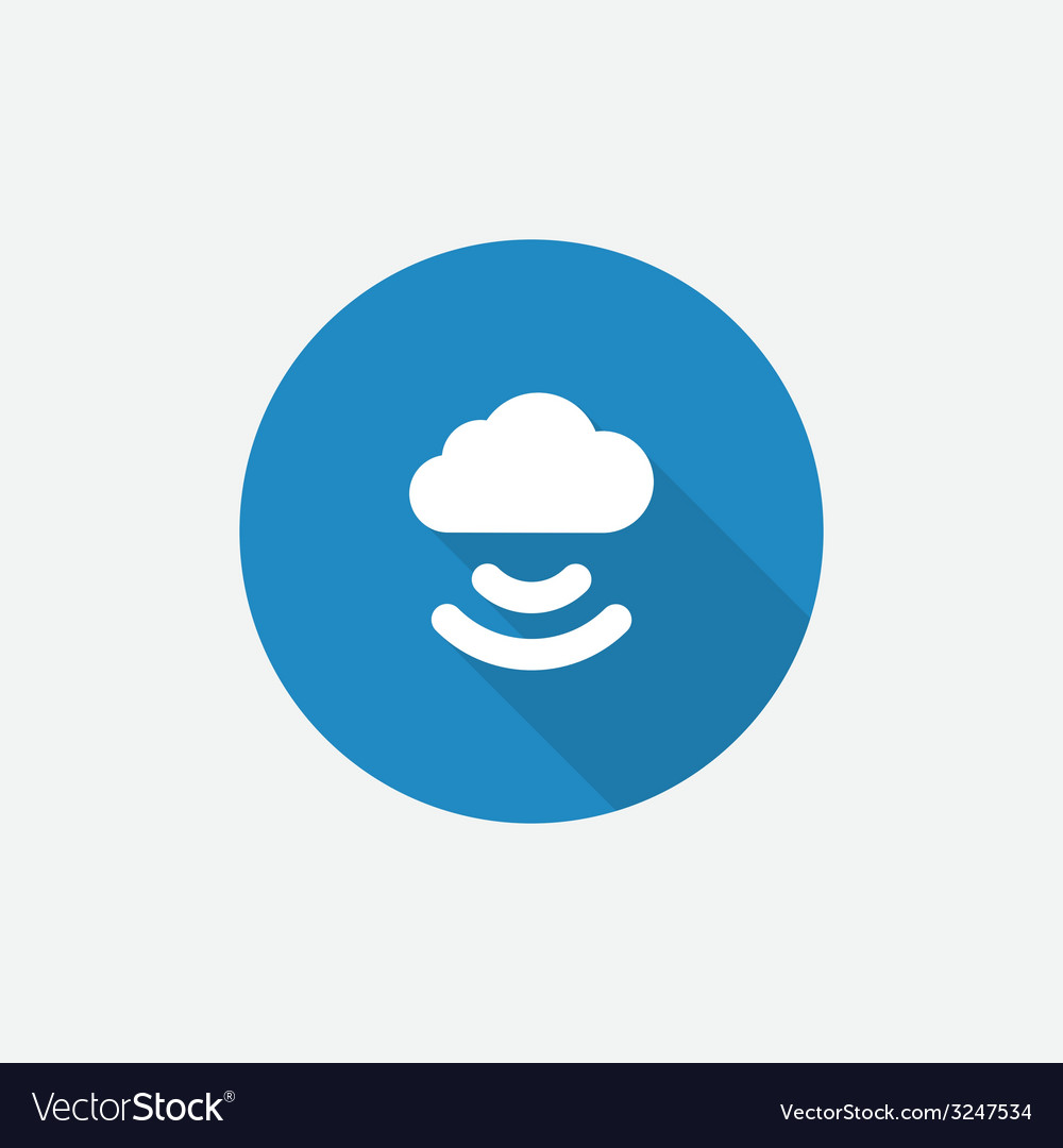 Connect cloud flat blue simple icon with long vector | Price: 1 Credit (USD $1)