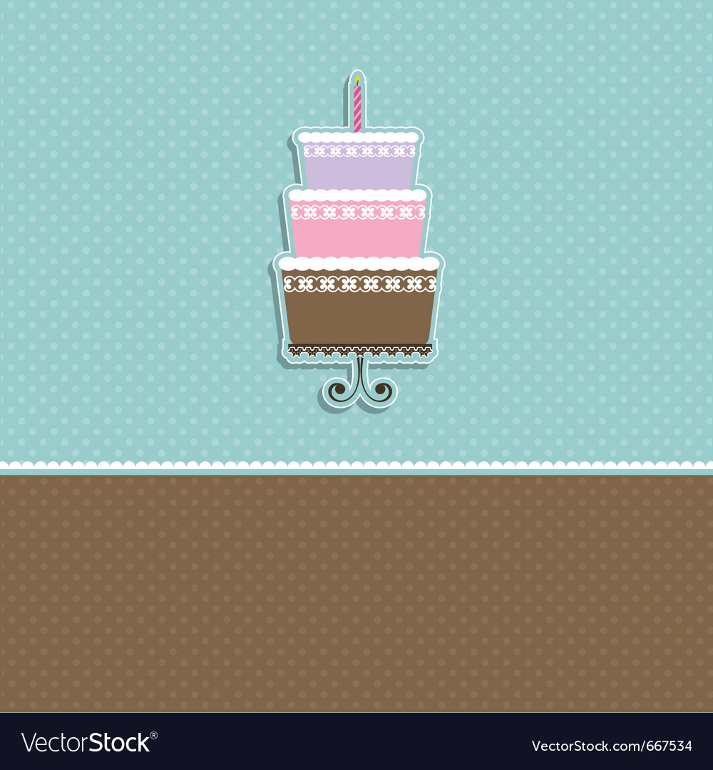 Cute cupcake card vector | Price: 1 Credit (USD $1)