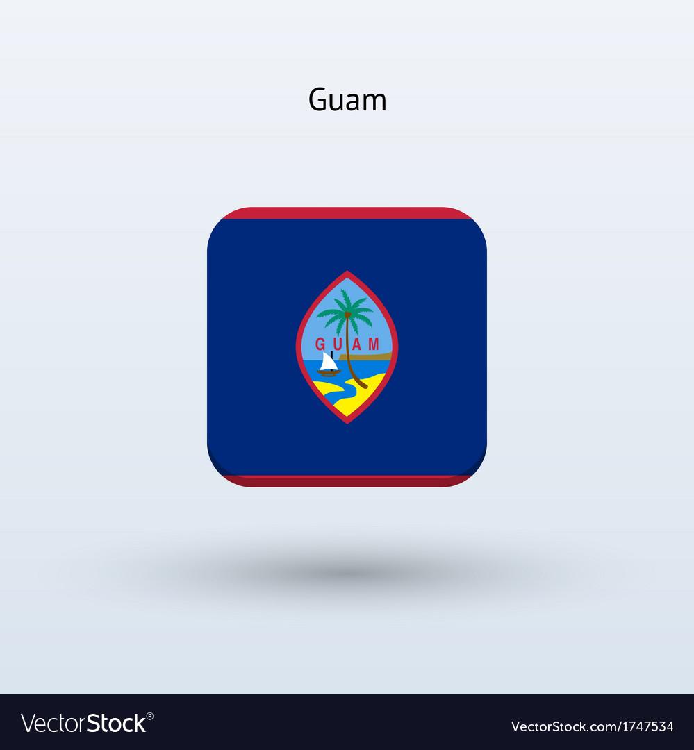 Guam flag icon vector | Price: 1 Credit (USD $1)