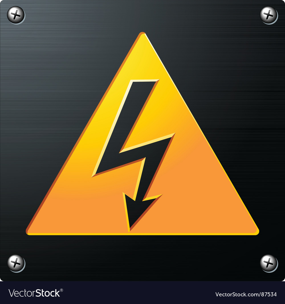 High voltage sign vector | Price: 1 Credit (USD $1)