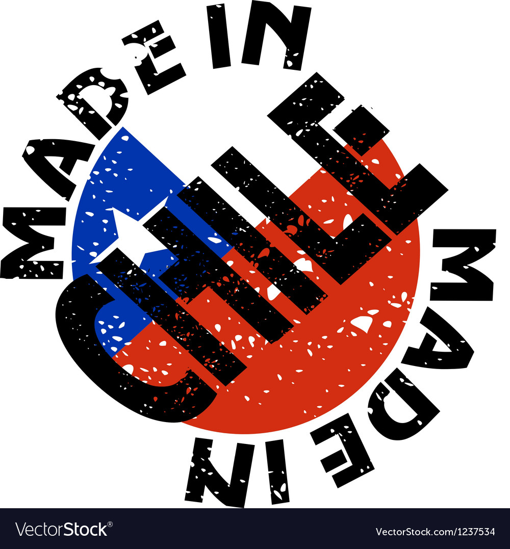 Made in chile vector   Price: 1 Credit (USD $1)