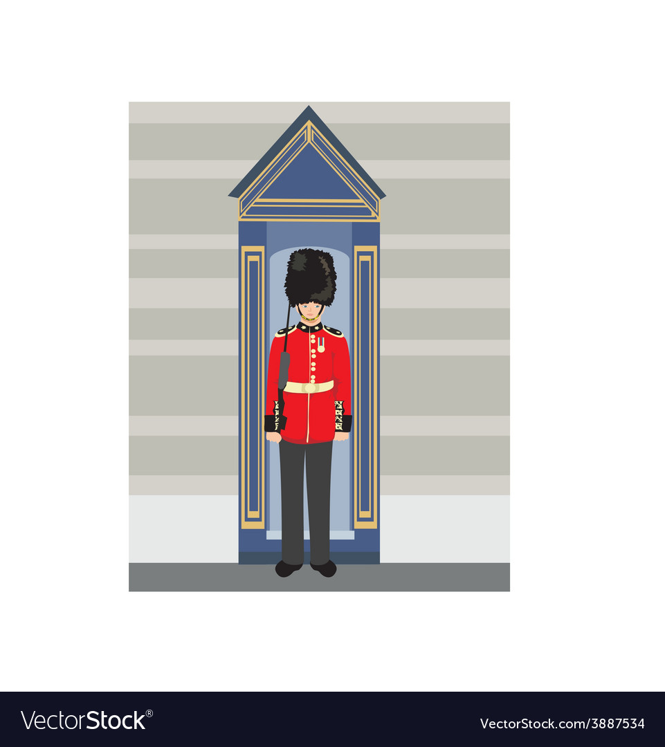 Royal british guardsman holding a rifle and vector | Price: 1 Credit (USD $1)